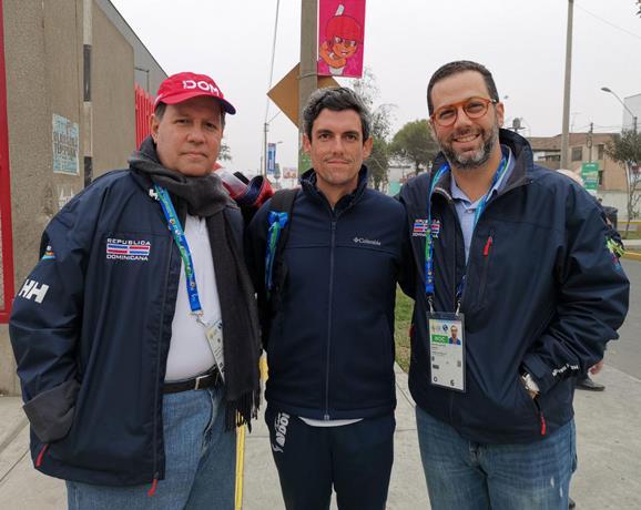 Felipe Vicini, presidente de Creso, junto a Manuel Antuña y Manuel Luna, de Creso.
